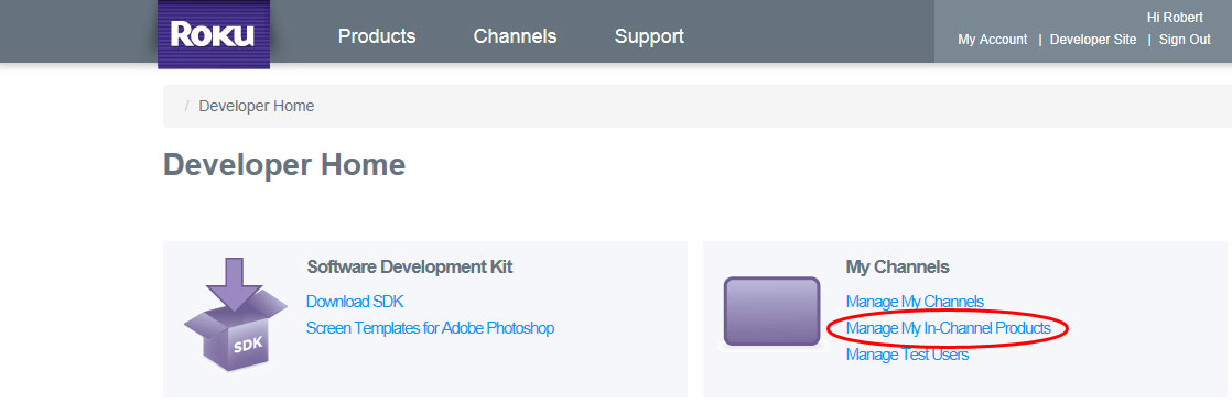 Supporting In App Purchases in Your Roku BrightScript