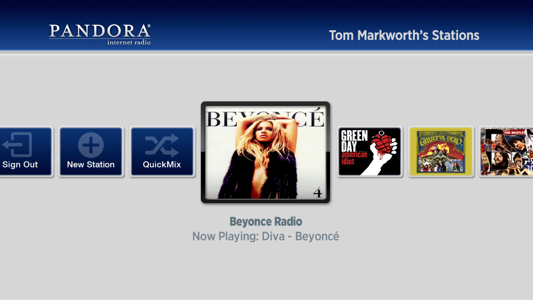 Pandora is our most popular music application both in terms of