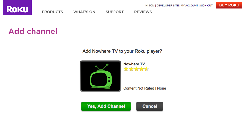 Roku Private Channel Install Screen More about Sexual health: Sexual health tips for him