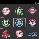 MLB.TV on Roku team grid screen