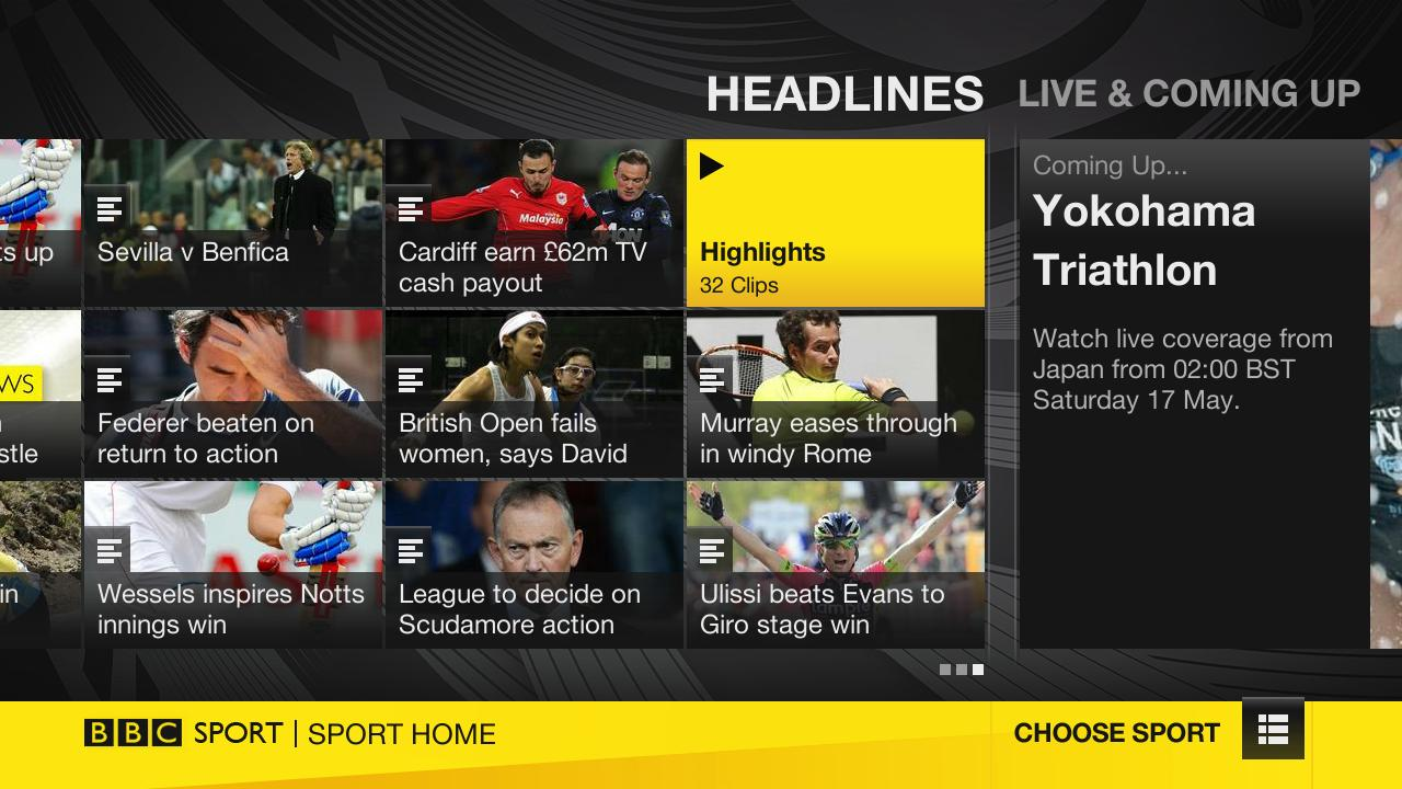 New on Roku: BBC Sport now available in the UK