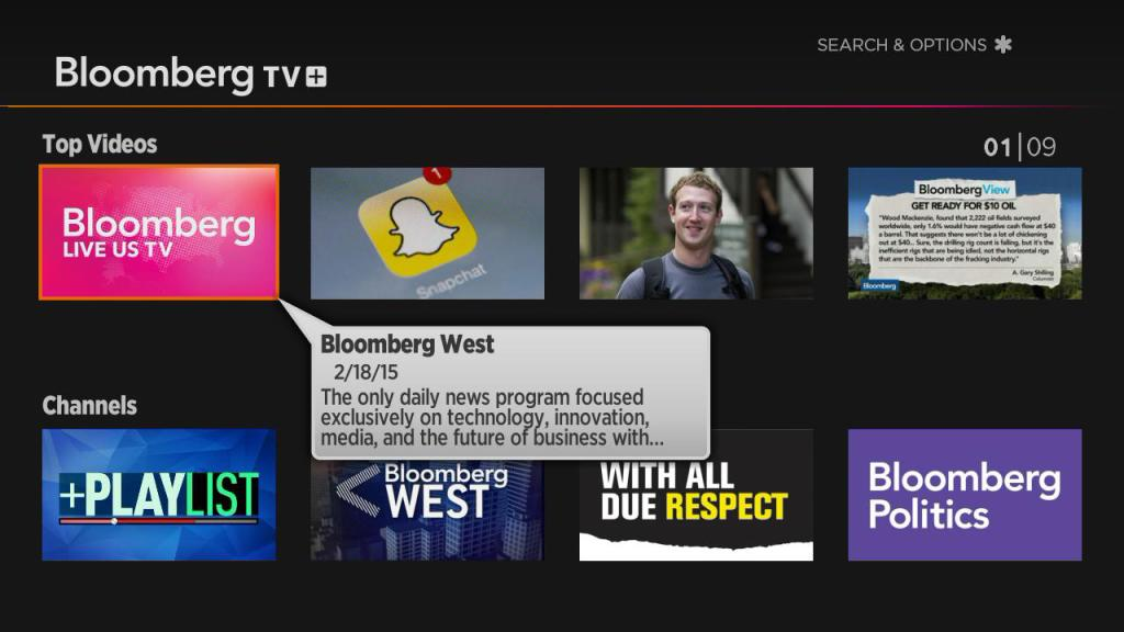 Bloomberg TV on Roku