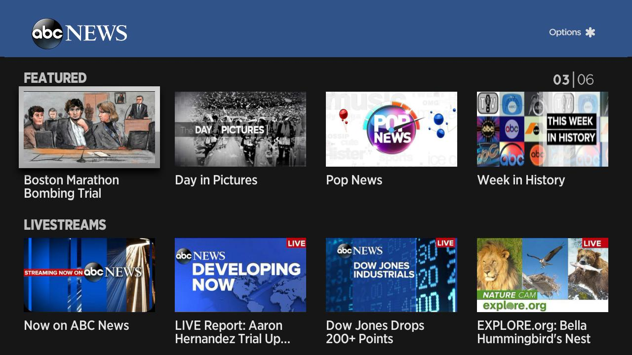 New News Channel : New in the roku channel store abc news
