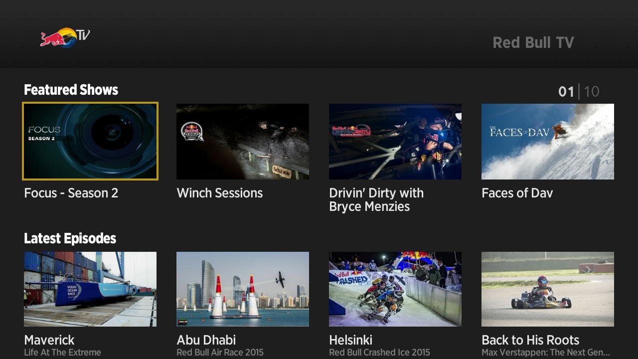 New in the Roku Channel Store: Red Bull TV