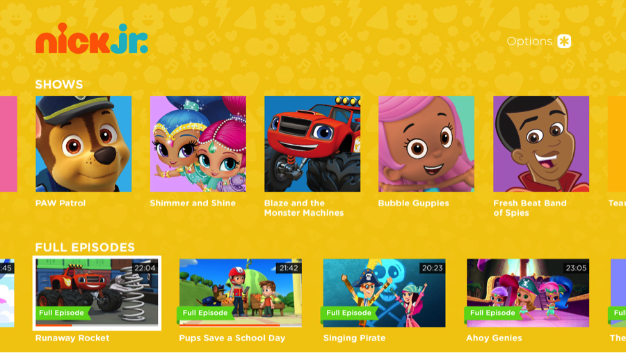 Nick Jr. now entertaining and educating on the Roku platform
