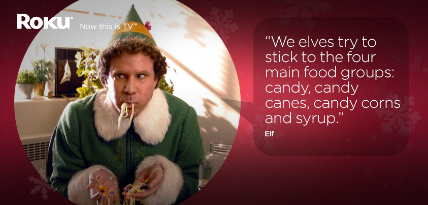 We Elves Try To Stick To The Four Main Food Groups: Candy, Candy Canes