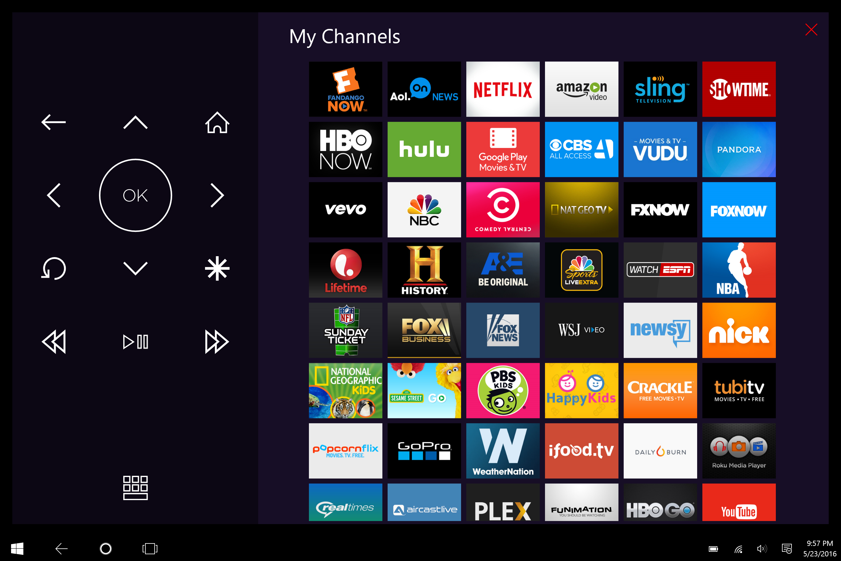 list of synonyms and antonyms of the word: roku channels