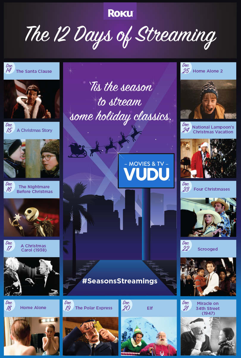 12 days of streaming: classic Christmas movies on VUDU