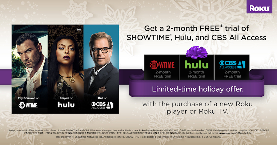 Have a new Roku device? Don't miss these free trials