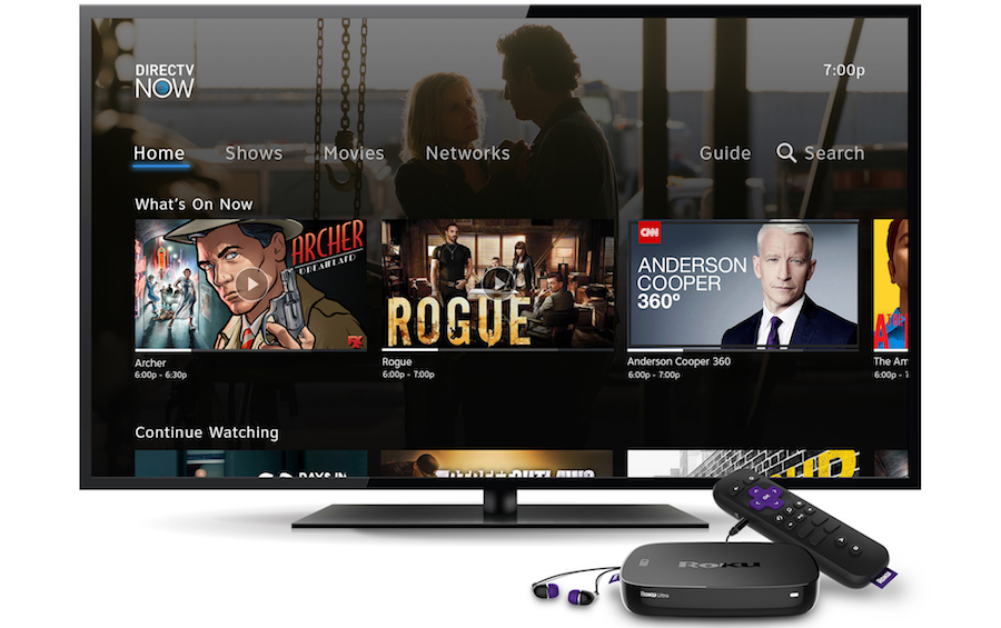 An early release of DIRECTV NOW available on the Roku platform